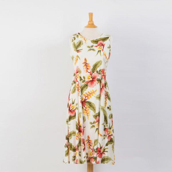 TPOCD1 ツーパームス・ベージュ花柄ドレス