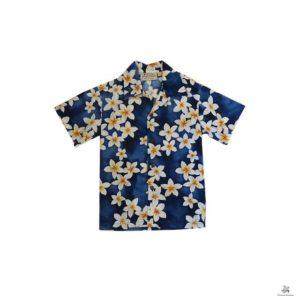 Royal Hawaiian Creations 子供用プルメリア柄 アロハシャツ KB002