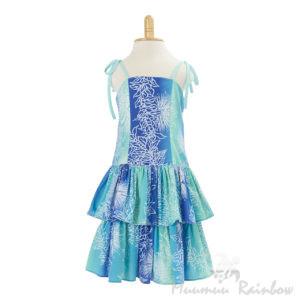 KIDS10G子供服ハワイアン ドレス・ショートドレス/グリーン