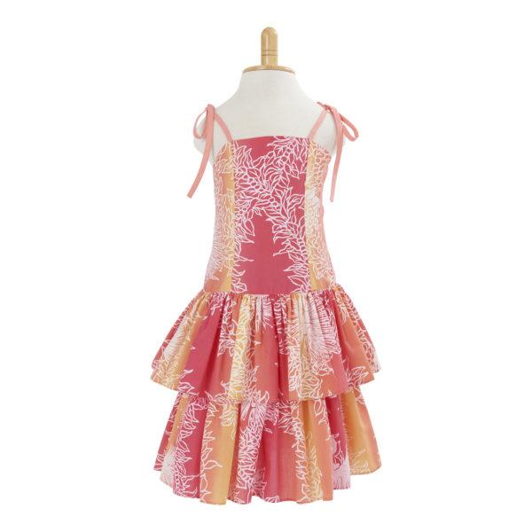 KIDS10O子供服ハワイアン ドレス・ショートドレス/オレンジ