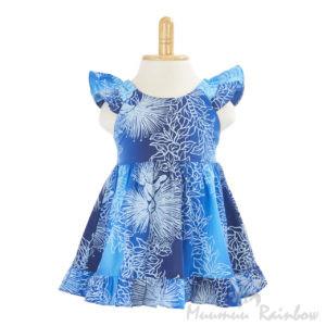 KIDS04 子供服ガールズドレス/ブルー
