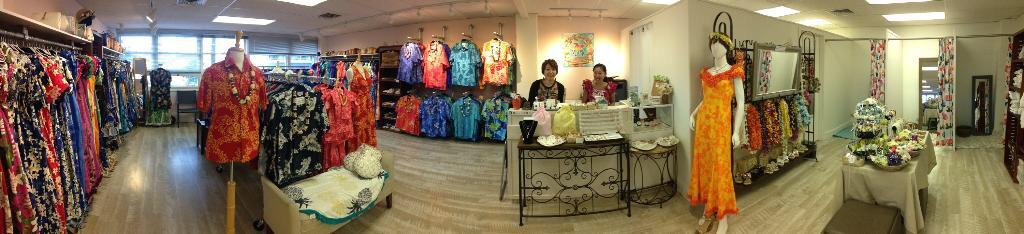 ムームーレインボー・ワイキキで人気のドレスとアロハシャツを日本向けレンタルでご自宅にお届け