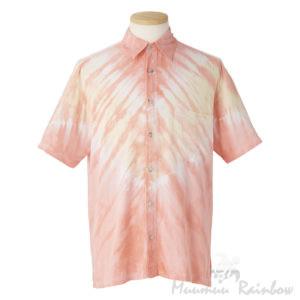 アロハシャツ サーモンピンク