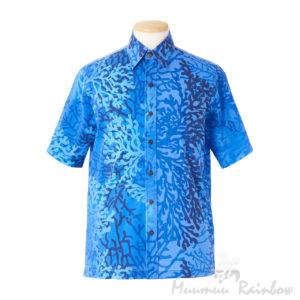 アロハシャツ ブルー