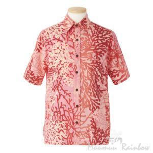 ハワイアンアロハシャツ珊瑚柄