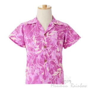 ハワイアンアロハシャツ・ボーイズ・ピンク