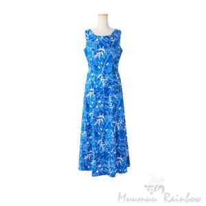 ハワイアンノースリーブドレス