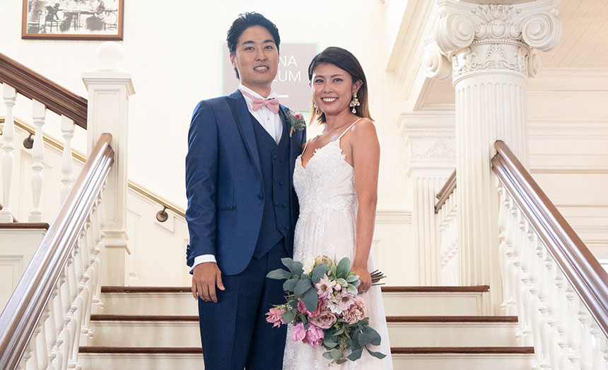 自粛の中の結婚式